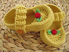Ravelry: LyubavaCrochet's Mustard Shoes For Baby Girl