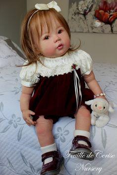 Feuille de Cerise Nursery - reborn girl toddler doll Kana by Ping Lau poupée