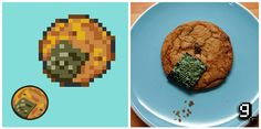 Lava Cookies... This site is awesome!  Turning video game foods into the real deal, with comparison pics and everything  :)  These chocolate chip cookies with nori intrigue me...