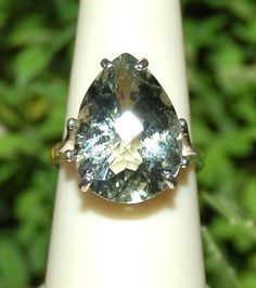 Large 11 Carat Pear Soft Green Amethyst by WindstoneDesigns, $59.95