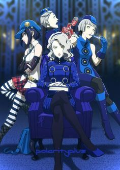 Welcome to the Velvet Room. Marie, Theodore, Margaret, and Elizabeth