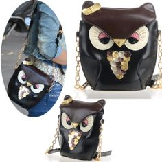 New Owl Satchel Messenger Womens Shoulder Bag Girls Handbag CrossBody Purse