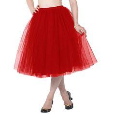 Petticoat rood - Rockabilly Vintage - 25 inch lengte