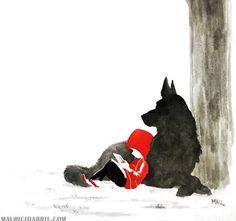 Little Red Riding Hood & Reading in the Woods (Image only). Little Red Riding Hood & Reading in the Woods (Image only). The post Little Red Riding Hood & Reading in the Woods (Image only). appeared first on Books. Fantasy Kunst, Fantasy Art, 7 Arts, Red Ridding Hood, Red Riding Hood Wolf, Art Manga, Wood Images, Mans Best Friend, Dark Art