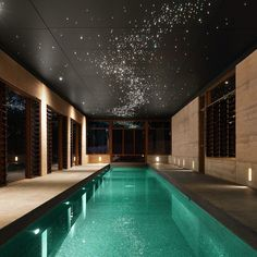 Glitter Ceiling + Indoor Pool