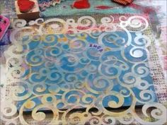 Fabric Printing with the Gelli Plate! Ok, everyone.  I keep it short, as work is taking me down this week. But I had time to play at Carolyn's Gelli Print Party.. now every first Friday of the month..  Won't you join us.  Check out her blog and all the linkys to the party.