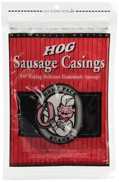 Natural Sausage Casing Casings for Homemade Sausage. Bratwurst, Italian, Smoked Links, Kielbasa and MORE. ** Click image to review more details.