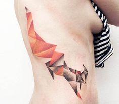 Fox tattoo by Olga Sienkiewicz