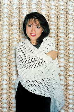 Easy Crocheted Triangle Lace Shawl By Lily M. Chin - Purchased Crochet Pattern - (ravelry)