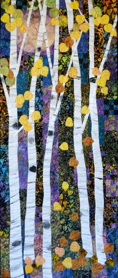 Midnight Moon art quilt by Eileen Williams