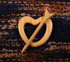 Petite Heart and Arrow Shawl Pin by South4th on Etsy, $30.00