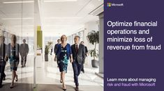 Managing financial risk and protecting against fraud keeps your organization and your revenue secure. Find out how #Microsoft can save you time, money, and your reputation. Learn more by subscribing. Microsoft, News, Risk Management, Homework, Financier, Business, Beginning Sounds