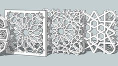 Large preview of 3D Model of Islamic pattern