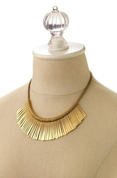 Essential Fringe Necklace - Gold by Stella & Dot, available 12/2 using the link in my profile!  The Essential Fringe Necklace is a favorite in our NY design office. Wear it alone or pair it with your favorite statement necklace. You will be sure to turn heads.