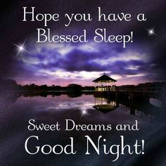 Hope You Have A Blessed Sleep! Sweet Dreams And Good Night! good night good night quotes good night images good night blessings