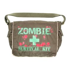 Zombie Messenger Bags ❤ liked on Polyvore featuring bags, messenger bags, accessories, purses, brown bag, brown messenger bag and courier bags