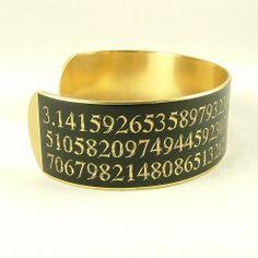 Items similar to Pi SLIM Brass Cuff Bracelet in Black - Geek Jewelry - Mathematics Gifts - Math Jewelry on Etsy Pi Day Wedding, Happy Pi Day, Brass Cuff, Geek Jewelry, Handmade Copper, Anklets, Cuff Bracelets, Geek Stuff, Slim