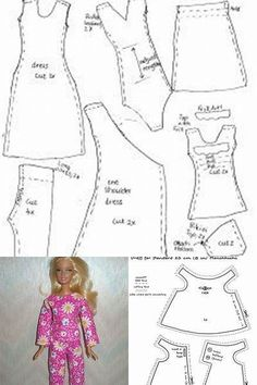 One-piece Barbie drrss …dolls kill platform shoes Click visit link to see more - Caring For Your Collectable Dolls.Barbie Skating outfit blouse Skirt & Shorts pattern with inDiscover recipes, home ideas, style inspiration and other ideas to try. Sewing Barbie Clothes, Barbie Sewing Patterns, Doll Dress Patterns, Sewing Dolls, Girl Doll Clothes, Clothing Patterns, Girl Dolls, Diy Clothes, Barbie Doll