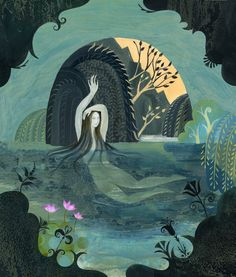 Arethusa Bathing from Greek Myths written by Ann Turnbull and illustrated by Sarah Young