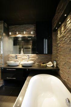 Vasque en pierre naturelle Master Bath, Bathtub, Bathrooms, Images, Design Ideas, Inspiration, Home Decor, Washroom, Houses