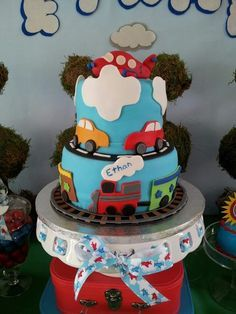 ideas to decorate cake with airplanes | Cake at an Airplane Party #airplane #partycake