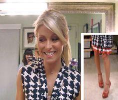 Kelly Ripa 3-1-12 | Dress: Marni Heels:  Giuseppe Zanotti #FashionFinder