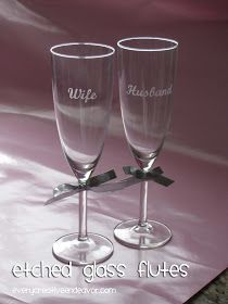 Every Creative Endeavor: Etched Glass Flutes