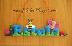 Baby name felt bugs - Nombre bebe bichitos en fieltro CONTACT: carmenmissfabulas@gmail.com