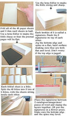 HOW TO make a Leather Journal – BOOK BINDING tutorial