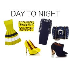 day to night, created by melissalank on Polyvore