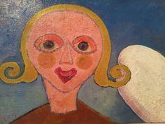 Henry Heerup, 1907-1993, Danish painter.   Den glade pige