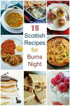 15 Scottish recipes for Burns Night. Breakfast, lunch, dinner, dessert and snacks. How will you celebrate Burns night and that great Scottish poet? Welsh Recipes, Scottish Recipes, British Recipes, English Recipes, Scottish Desserts, Turkish Recipes, Burns Night Recipes, Scotland Food, Scottish Dishes
