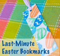 Last-Minute Easter Bookmarks for Kids to Make #crafts