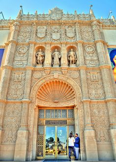San Diego Museum of Art, Balboa Park. They have over 10 museums at Balboa Park and you can walk down the hill to San Diego Zoo.  At Balboa Park the center walkway looks out to the Pacific Ocean...very beautiful!!!