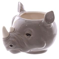 Coffee Mug Novelty Rhino Head Shaped Ceramic Cup by getgiftideas