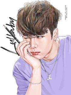 JacksonWang SyndicateKPOP_Boyz KPOP fanart kpopfanart inspiration via Youngjae, Got7 Jinyoung, Yugyeom, Got7 Fanart, Kpop Fanart, Got7 Jackson, Jackson Wang, Prince Drawing, Angel Sketch