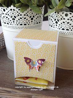 Schönes aus Papier handgemacht!: Teebeutelspender-Tutorial