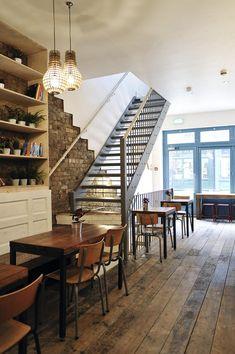 interior kin restaurant designs in london - Light Hardwood Restaurant Decoration