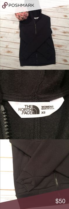 Woman The North Face hoodie 😍😍 I love this hoodie my fav like new all black size xsmall woman north face 😍😍 The North Face Tops Sweatshirts & Hoodies