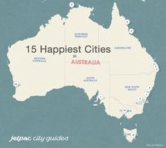 Photo Study Reveals Australia's Happiest Cities  Wollongong is the happiest city in Australia, as measured by smiles on the faces of people in publicly shared Instagram photos from the different cities. Could it be all the students, the ocean views, and the port? Townsville has a lot to smile about, as does the Nation's Capital - Canberra, which are the runners up.  Adelaide out-smiles Brisbane.  The largest cities are fighting it out for the least smiles, with Perth beating Sydney…