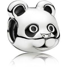 Pandora Charm - Sterling Silver & Enamel Peaceful Panda, Moments... ($30) ❤ liked on Polyvore featuring jewelry, pendants, silver, pandora charms, silver charm pendant, pandora bracelet, charm bracelet jewelry and panda jewelry