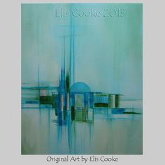 Modern Abstract Expression Art Original Contemporary Painting Sanctuary9 on Etsy, $157.64 AUD