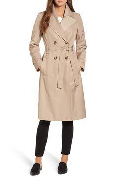 8bd6fe5fc3dbff Main Image - Via Spiga Double Breasted Trench Coat Basic Wardrobe  Essentials, Wardrobe Basics,