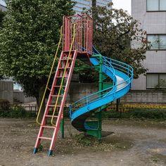 0916  http://sandman-kk.tumblr.com/post/137218221903#landscape #street #playground #plants #urban #tokyo #japan #photooftheday