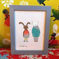 SasandYosh-ArtPrint-Bunny and Bear-2