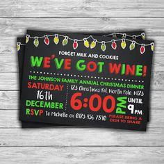 PRINTABLE Christmas Invitation  DIGITAL  by TheDigiSloth on Etsy