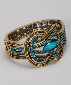 Turquoise Gem Knot Bangle by Chit-Chat on #zulily today!