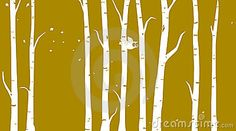 Winter owl among birch trees by Illerent, via Dreamstime