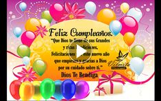Que el día de hoy, sea el día mas feliz de toda tu vida - FELIZ CUMPLEAÑOS T.Q.M ~ Tarjetitas Happy Birthday Balloons, Happy Birthday Cards, Birthday Gifts, Birthday Animation Video, Birthday Wishes Messages, Happy B Day, Home Interior, Lily, Chihuahua
