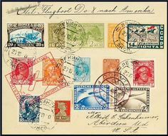 German Empire, 30. 1. 1931 first DOX overseas flight, clean cover with mixed postage DR (2 and 4 RM South America Flight) and Russia, reverse arrival postmark Rio de Janeiro 22. 6. 1931, faultless condition, Harms 24i    Dealer  Chiani Auctions    Auction SOLD  Price (no guarantee):  460.00 CHF